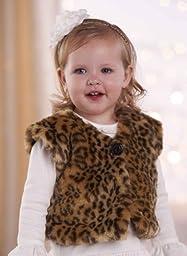 Mud Pie Girls Faux Fur Winter Vest (4T)
