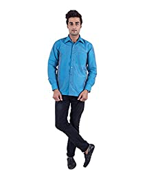 Warrior Art Silk Blue Shirt