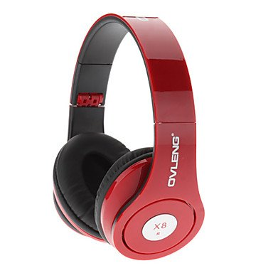 Ovleng X8 Powerful Sound Experience Dynamic Bass Headphone With Microphone For Macbook Air Pro-Red