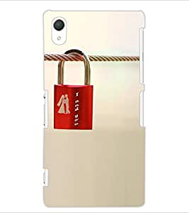 ColourCraft Love Lock Design Back Case Cover for SONY XPERIA Z2
