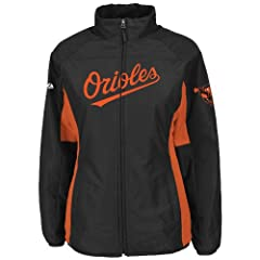 Baltimore Orioles Black Ladies Authentic Double Climate On-Field Jacket by Majestic by Majestic