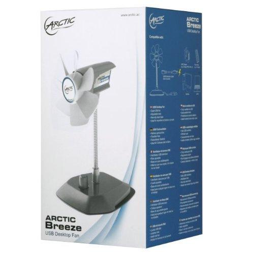 Arctic breeze elegante ventilatore da tavolo usb con collo flessibile e velocit regolabile - Ventilatore da tavolo usb ...