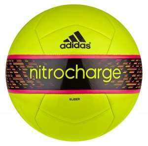 Adidas Nitrocharge Glider Soccer Ball Size 5 (SLIME/BLACK) adidas nitrocharge 1 0 trx fg black solar slime