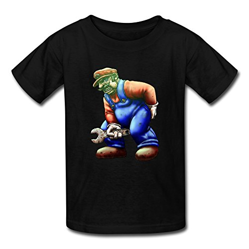 FEDNS Kid's Games Mario Super Bros Alt Art Wrench T Shirt