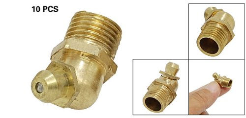 Como Angled 10 x 1.8mm Brass Grease Nipples 10pcs