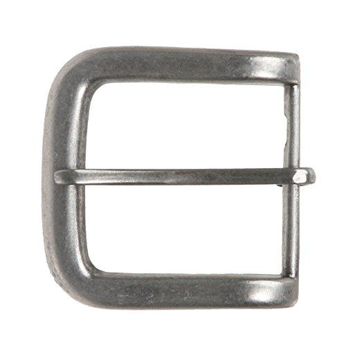 "1 1/2"" (38 mm) Single Prong Rectangular Belt Buckle Color: Antique Silver"