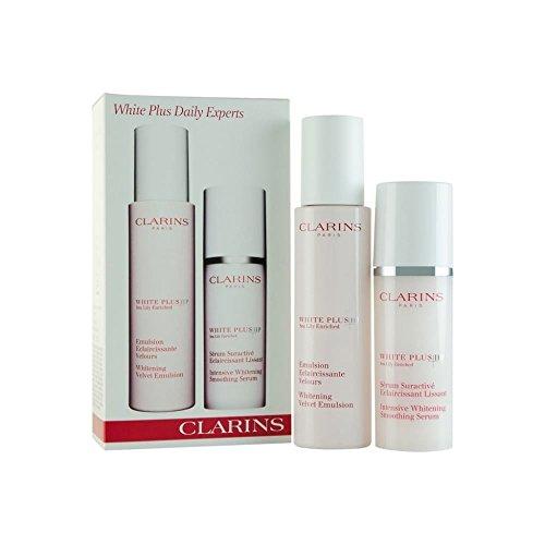 Clarins White Plus HP Confezione Regalo 75ml Whitening Velvet Emulsione + 30ml Intensive Whitening Smoothing Siero