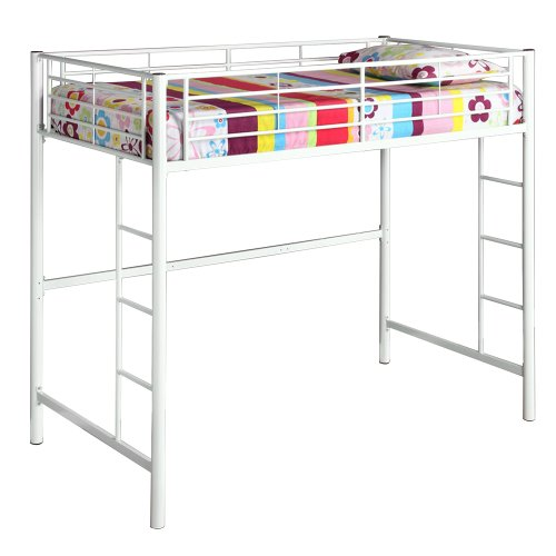 WE Furniture Sunrise Metal Twin/Loft Bunk Bed,