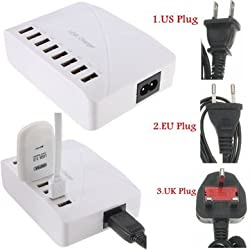 High Speed 8 Ports USB Charger Hub AC Power Adapter Socket Splitter UK US EU Plug For iPhone Samsung -