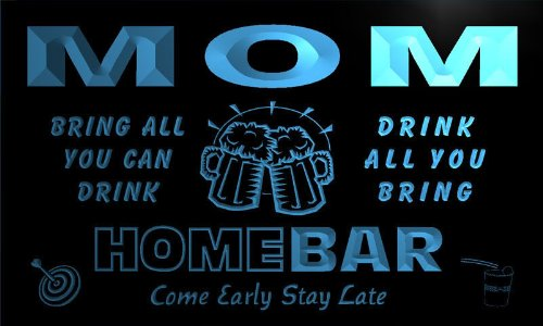 Q31069-B Mom Family Name Home Bar Beer Mug Cheers Neon Light Sign
