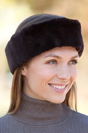 Sheared Beaver Fur Headband, BROWN, Size 1 Size