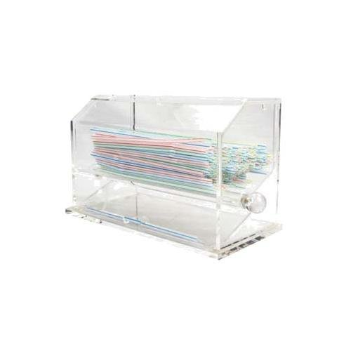Winco ACSD-712 Acrylic Straw Dispenser