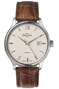 Davosa Herren Armbanduhr Classic Automatic Analog Automatik Leder braun 16145632