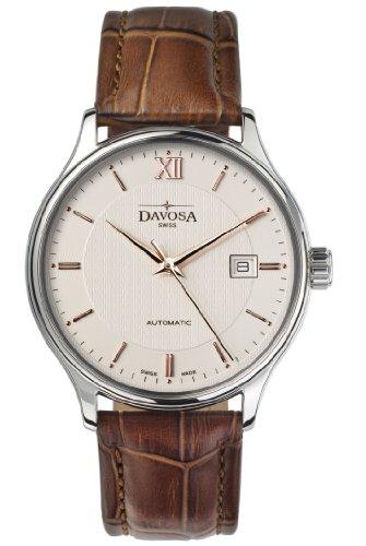 Davosa - 16145632 - Montre Homme - Automatique - Analogique - Bracelet Cuir Marron