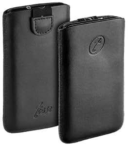 yayago t-case Tasche aus echtem Leder und neuem Verschlussmechanismus für Nokia Lumia 610 / Nokia Lumia 800 /Motorola Razr i (XT890) / Razr M und viele weitere Modelle