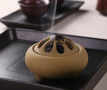 陶器 アロマ香炉 タワー香つき 沉香熏香炉