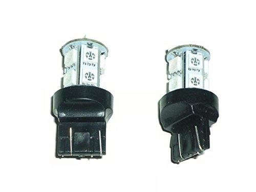 13連 LEDバルブ 3CHIP 12V用 T20 (グリーン, 2個セット)