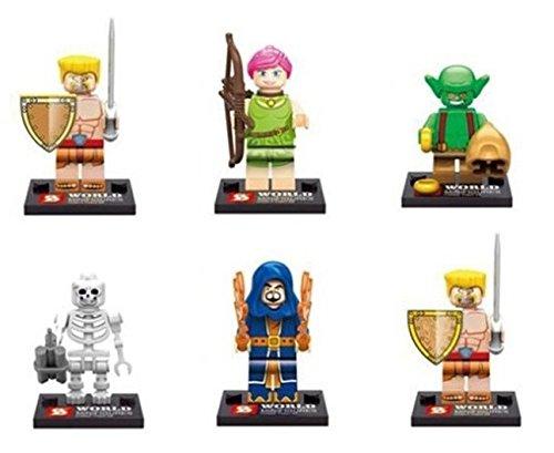 6Pcs Building Blocks Super Heroes Avengers Minifigures Clash Of Clans figures