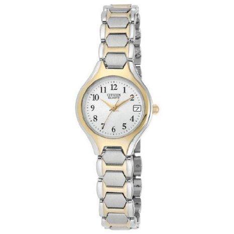 Citizen Quartz Date Two Tone Stainless Steel Bracelet Women'S Watch - Eu2254-51A