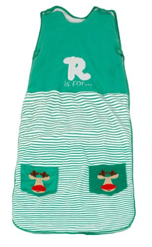 LIMITED TIME OFFER! The Dream Bag Baby Sleeping Bag Velour Reindeer 6-18 Months 2.5 TOG - Green
