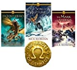img - for Rick Riordan's Heroes of Olympus series 3 Book set: The Lost Hero, The Son of Neptune, The Mark of Athena (3-Volume set) book / textbook / text book