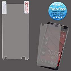 MYBAT HTCDNALCDSCPRTW LCD Screen Protector for HTC Droid DNA - Retail Packaging - Twin Pack
