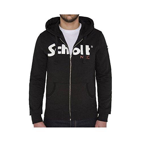 Schott NYC SWJONAS2NY, Felpa Uomo, Schwarz (Schwarz (Black 90) 90), XL