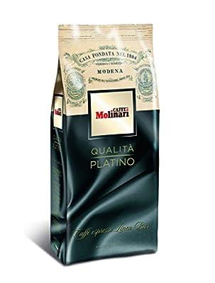 Caffe' Molinari Platino Espresso Beans 1Kg. bag (2.2lb)