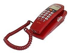 Inovera Orientel Landline Corded Caller ID Phone/Telephone(Red)