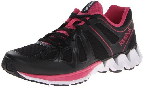 Reebok Damenn s Zigkick Dual Running Shoe Black Pink Fusion