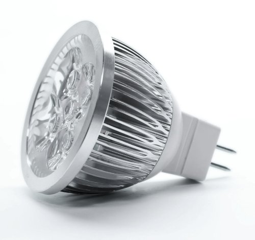 TORCHSTAR LED MR16 3200K Warm White Spotlight 12V 4W (330 Lumen - 50 Watt Equivalent) 60 Degree Beam angle