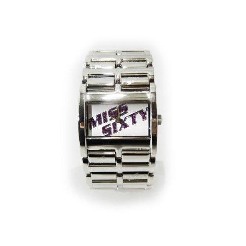 (ミスシックスティ) MISS SIXTYキラキラロゴ入りブレスレット風ウォッチ ホワイト [時計]