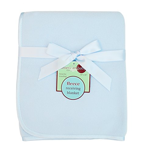 American Baby Company Fleece Blanket, Blue, 30