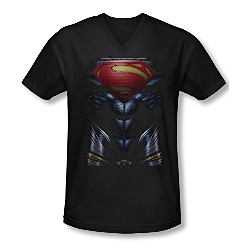 Superman Man of Steel Mos Costume Slim Fit V-Neck T-Shirt