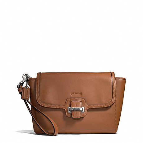 Coach   Coach Taylor Leather Flap Clutch / Saddie