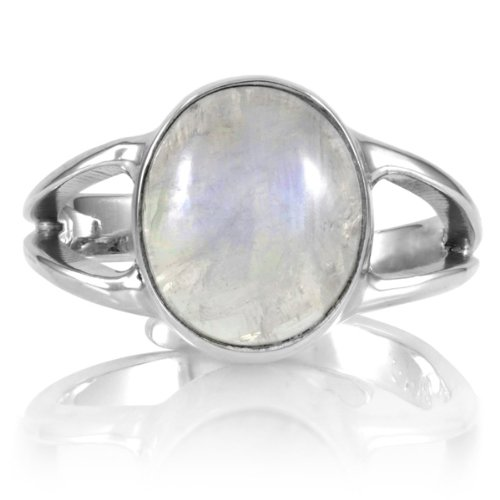Belinda's Genuine Moonstone Ring - Sterling Silver