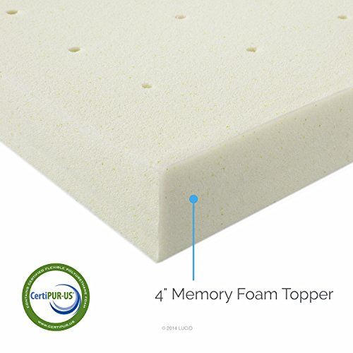 Lucid 4 inch memory foam mattress topper 3 year warranty king furnitures sale 4 memory foam mattress topper