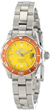 Invicta Womens 14097 Pro Diver Yellow Dial Stainless Steel Watch