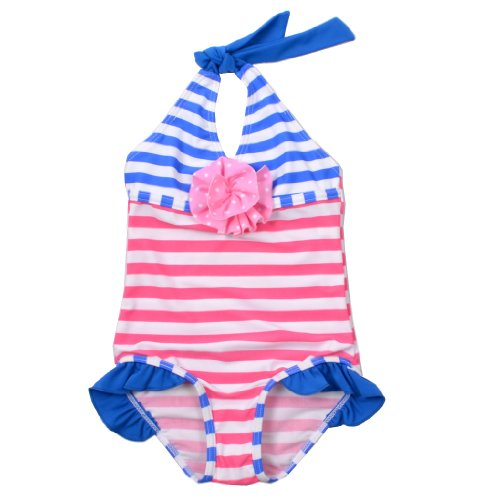 BHL Girls Kids Swimwear 3-8 Years Striped (6-8 Years) image
