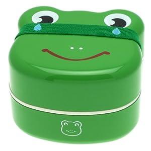 Kotobuki 2-Tiered Bento Box, Frog Face