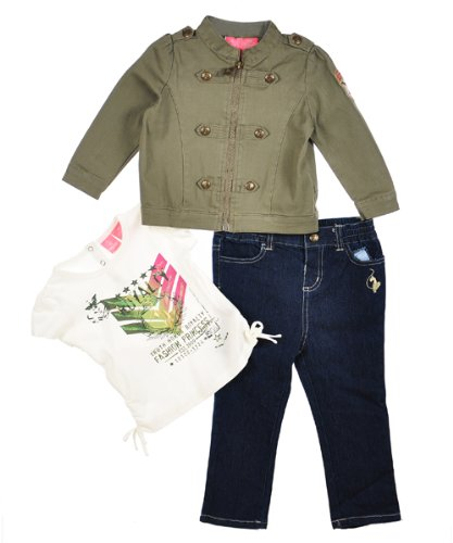 "Baby Phat ""Fashion Princess"" 3-Piece Outfit (Sizes 12M - 24M) - dark wash, 18 months"