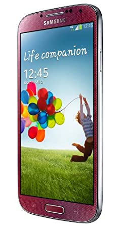 Samsung Galaxy S4 Smartphone (4.99 Zoll AMOLED-Touchscreen, 16 GB Speicher, Android 4.2) - rot
