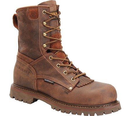 """Carolina Mens 8"""" Waterproof Work Boot, Brown, 15 Eeee Us"""