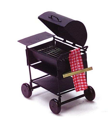 Dollhouse Miniature BBQ Grill With Towel