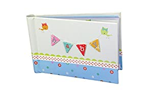 Baby Photo Album 4 x 6 Brag Book Boy / Girl Baby Shower Gifts Holds 24 Precious Photos Acid-free Pages by Gift Wrap Company
