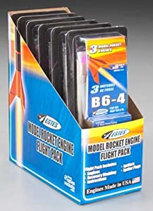 7963 B6-4 Flight Pack - 3 Engines & igniters plus 12 sheets of wadding