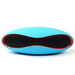 LOLERS Bluetooth Speaker, Olive Wireless Bluetooth Speaker Built-in Microphone - Support TF Card, FM, USB Flash Disk