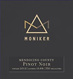 2012 Moniker Estates Mendocino County Pinot Noir 750 ml Wine