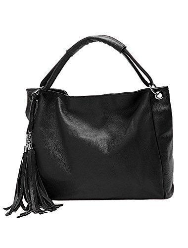 allegra-k-ladies-tassels-decor-zip-closed-pu-leather-slouch-hobo-bag-black