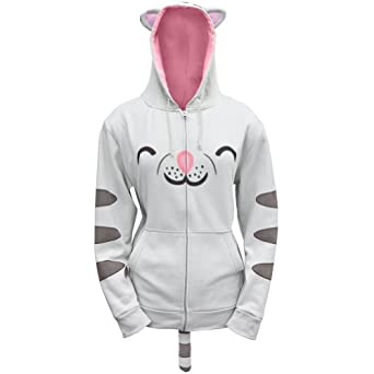 Big Bang Theory Soft Kitty Juniors Zip Hoodie, Grey, Small